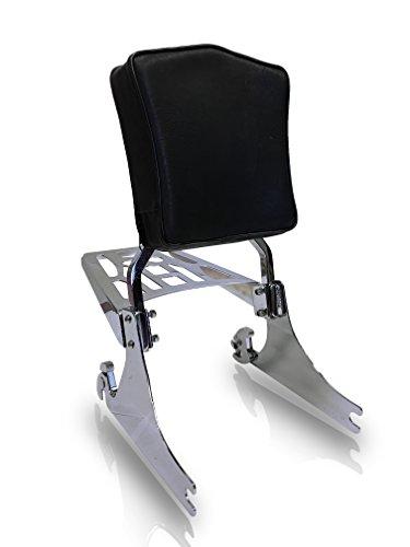 Harley Davidson 84-up Detachable Softail Sissy Bar Backrest Pad 9 X 6 Luggage Rack Combo