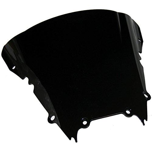 Double Bubble Black Tinted Smoke Windscreen Windshield Visor for 2001 Yamaha YZF R6