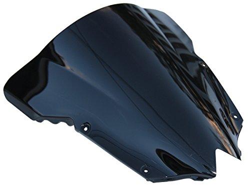 Double Bubble Black Tinted Smoke Windscreen Windshield for 2016 Yamaha YZF R6