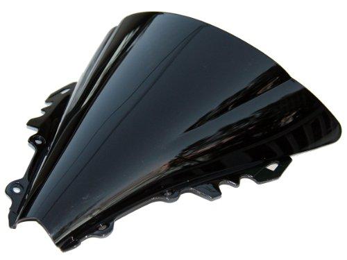 MotorToGo Double Bubble Windshield Windscreen Shield for 2007 Yamaha YZF R6 Tinted Black Dark Smoke New