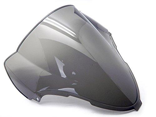 9sparts Black  Clear  Smoke Double Bubble ABS Plastic Injection Windscreen Windshield For 1999 2000 2001 2002 2003 2004 2005 2006 2007 Suzuki Hayabusa GSX1300R Smoke