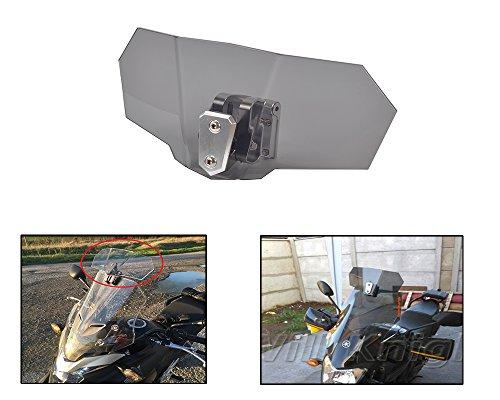 Adjustable Clip On Smoke Windscreen Windshield Extension Spoiler Wind Deflector Adjustable Lockable For Motorcycle