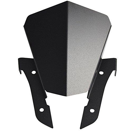 Black Aluminum Windscreen Windshield for Yamaha FZ-07 FZ07 2013 2014 2015 2016 2017