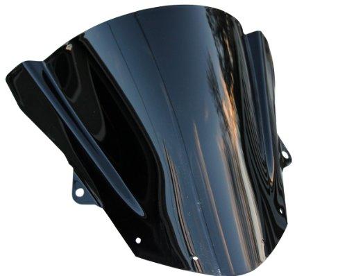 Double Bubble Black Tinted Smoke Windscreen Windshield for 2015 Kawasaki Ninja ZX6R ZX636F ABS