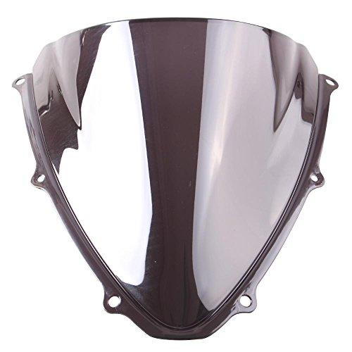 GZYF Smoke Tinted Windscreen Windshield Set For Suzuki GSXR 600 750 2006 2007 06 07 K6 Black