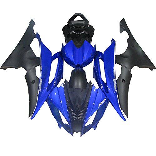 Injection Mold Plastic Bodywork Blue Black Fairing Fit for Yamaha 2008-2015 YZF R6