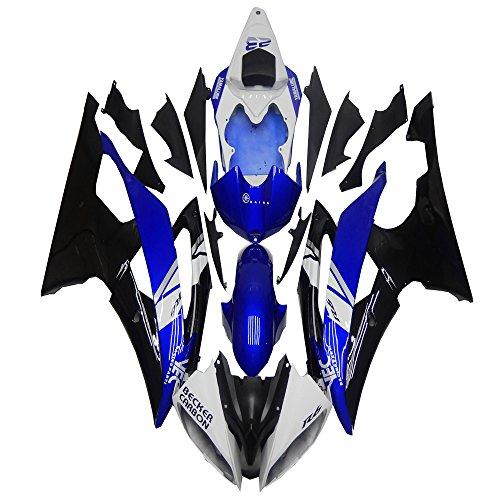 White Blue Black Bodywork Plastic Injection Fairing Fit for Yamaha 2008-2015 YZF R6