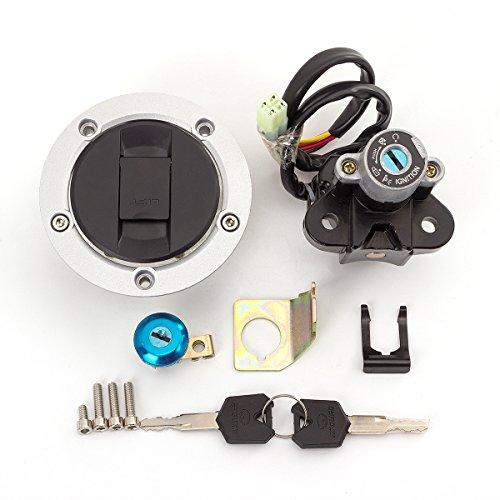 FXCNC Motorcycle Fuel Gas Cap Ignition Switch Lock With 2x Keys Set For Suzuki SV650 2003-2011 SFV650 Gladius 2009-2010