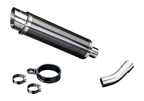 """Suzuki SV650 DL10 14"""" Carbon Round Muffler Exhaust 03 04 05 06 07 08 09 10 11 12"""