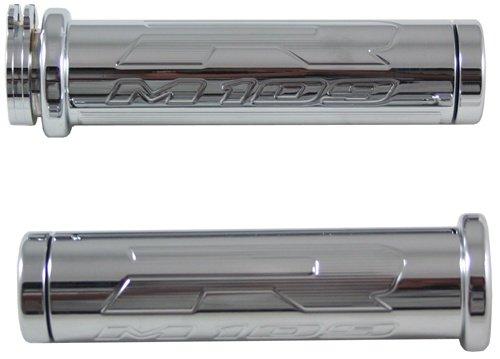 Yana Shiki CA3202F Chrome Standard Style Grip with Flat Ends for Suzuki Boulevard M109R