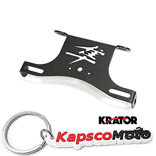 Krator 2008-2012 Suzuki Hayabusa 1300 Fender Eliminator License Plate Holder Tidy Tail Billet Aluminum Motorcycle Black  KapscoMoto Keychain