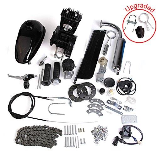 AURELIO TECH 80cc 2-Stroke Motor Engine Kit Gas for Motorized Bicycle Bike Black