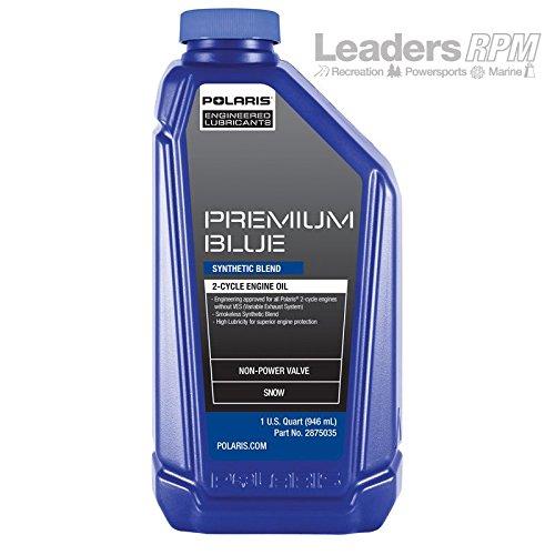 Polaris New OEM Premium Blue 2 Stroke Snowmobile Engine Oil 1 Quart 2882201