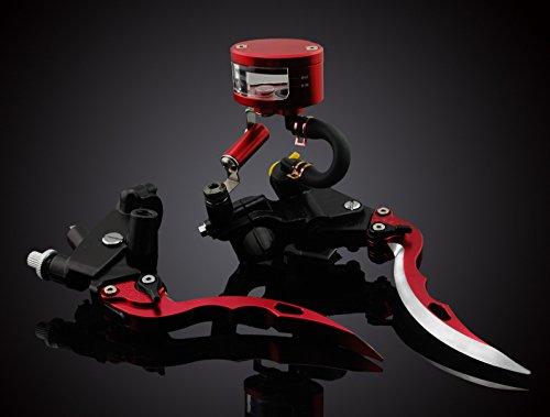 LUO 78 Brake Master Cylinder Blade Levers for Suzuki GSR600 GSR750 GSXS750 GSXR600 GSXR750 GSXR1000 SFV650 GSXS1000 DL650 Katana SV650S TL1000S GS500 GS500E GS500F GSF250 GSF600 GSF600S Red