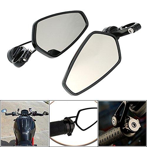 KKmoon Universal Fit Bolts Aluminum Motorcycle 78 Handle Bar End Rearview Mirror CNC 360° Rotation Bracket Side View Mirrors For Harley Davidson Cruiser Chopper Suzuki Honda Kawasaki Yamaha - 2Pcs