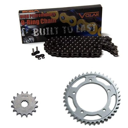 1986-1987 Honda Rebel 450 CMX450C O-Ring Chain and Sprocket Kit Black