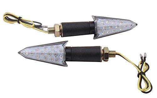 2 PCS Arrow Long Stalk Turn Signals LED Lights Blinkers for 1995 Kawasaki Ninja ZX6R ZX600F