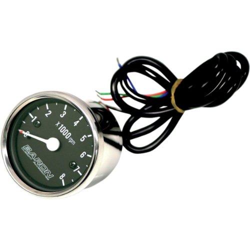 Baron Custom Accessories Tachometer Internals - Black Face BA-07-660T