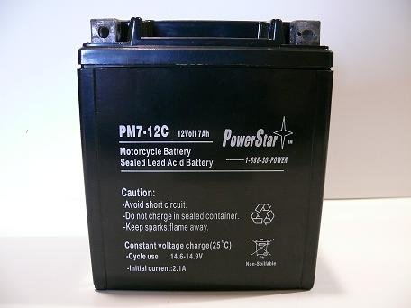 PowerStar YTX7L-BS Motorcycle Battery for KAWASAKI EX250 Ninja 250CC 95-07