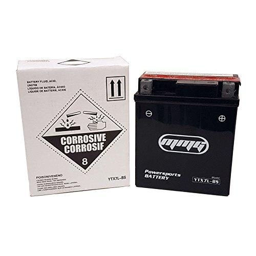 YTX7L-BS 12v Motorcycle Battery fits Honda NX125 CRF230L CB250 Nighthawk CBR250R 250C Rebel NX250 CB600
