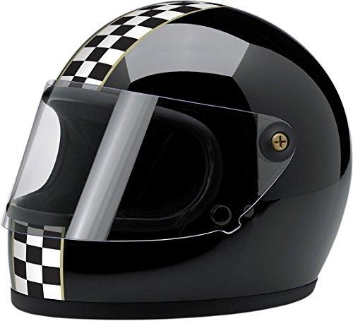 BILTWELL Gringo S Helmet Plastic-Polycarbonate Checker Gloss Black Large