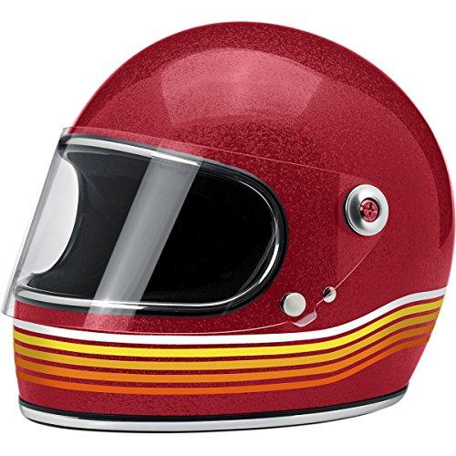 Biltwell Gringo S Helmet - Limited Edition Spectrum LARGE WINE RED