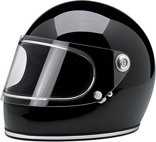 Biltwell Gringo S Solid Full-face Motorcycle Helmet - Gloss Black  Medium
