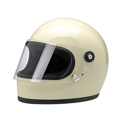 Biltwell Gringo S Solid Full-face Motorcycle Helmet - Vintage White  Large