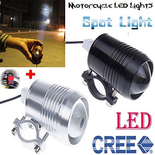 GOODKSSOP Super Bright CREE U2 30W LED Motorcycle Universal Headlight Work Light Driving Fog Spot Lamp Night Safety Headlamp  1pcs Switch Black