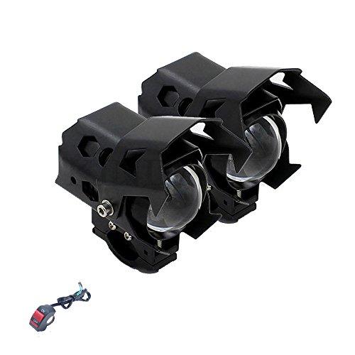 KINDAFLY 2PCS 12V Universal Motorcycle Headlight lLed 125w 3000lm U5 U7 U9 Cree Chip Led Driving Fog Spot Head Light Lamp
