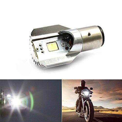 Universal Motorcycle Bike Headlights H6 BA20D DC 12V-80V 12W COB LED Motorcycle Bike Beam Headlight Bulb Strong Light for MotorcycleBikeMopedScooterATV etc