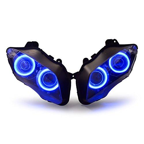 KT Headlight Assembly for Yamaha R1 2007-2008 V1 Blue Angel Eye