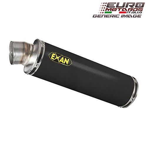 Yamaha R1 2007-2008 Exan Exhaust Silencer X-GP Black Stainless Steel Dual x2 New