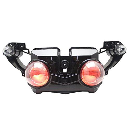 KT LED Headlight Assembly for Yamaha R1 2009-2011 Red Demon Eye