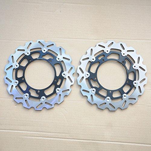 Front Brake RotorWotefusi Motorcycle New Front Brake Rotors Discs Disks For Yamaha YZF R6 2006-2013 R1 2007-2014 2008 2009 2010 2011 2012 Black