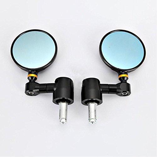 One pair of CNC Billet Bar End Mirrors for DucatiBMWBuellHondaKawasakiSuzukiTriumphKTMYamaha with standard 78 hollow handle bar