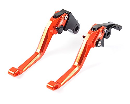 Tencasi Orange New Short Rhombus Hollow Adjustable Brake Clutch Lever for KTM 1190 Adventure  R 2013-2016  Super Adventure 1290 STR 2015-2017