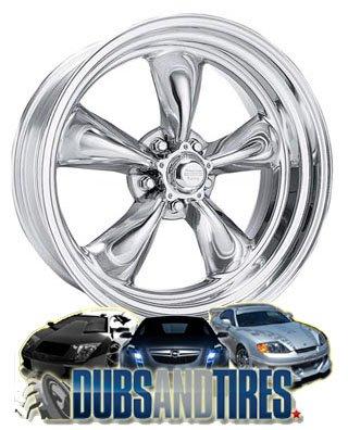 20 Inch 20x8 American Racing wheels wheels CUSTOM TORQUE THRUST II Polished wheels rims