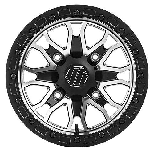 Hiper Wheel 1580-KFSCM-44-SBL-CM 15in Raptor Racing Wheel - 15x8 - 44 - 4136-137 - Contrast Machined 15x8