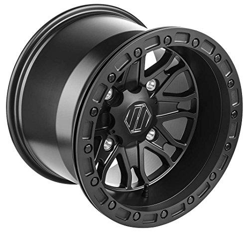 Hiper Wheel 1580-PFSBK-44-SBL-BK 15in Raptor Racing Wheel - 15x8 - 44 - 4156 - Black 15x8