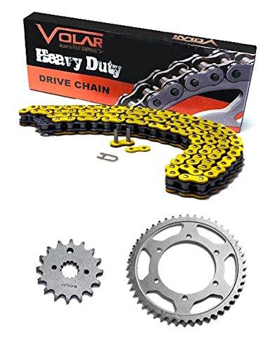 2005-2007 Suzuki RMZ450 Chain and Sprocket Kit - Heavy Duty - Yellow