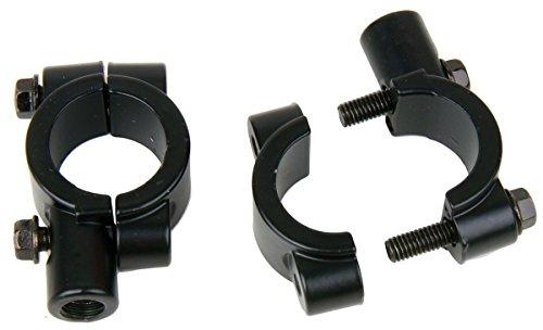 Black Motorcycle 78 22mm handle bar Clamp with 10mm clockwise thread Mirror Mount for 2005 Suzuki RMZ450