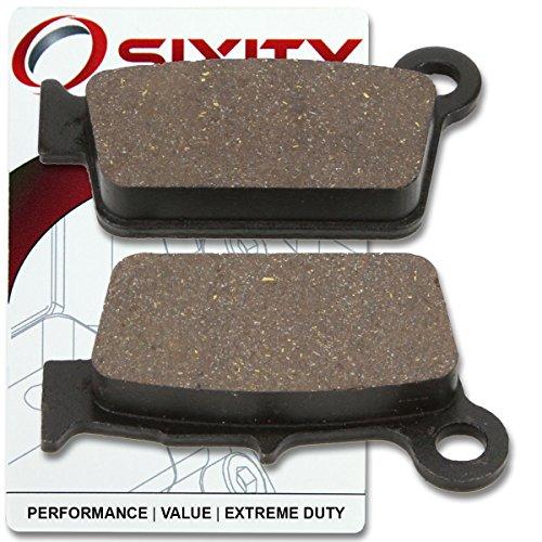 Sixity Rear Organic Brake Pads 2005-2007 Suzuki RMZ450 Set Full Kit K5 K6 K7 ZK7 Complete
