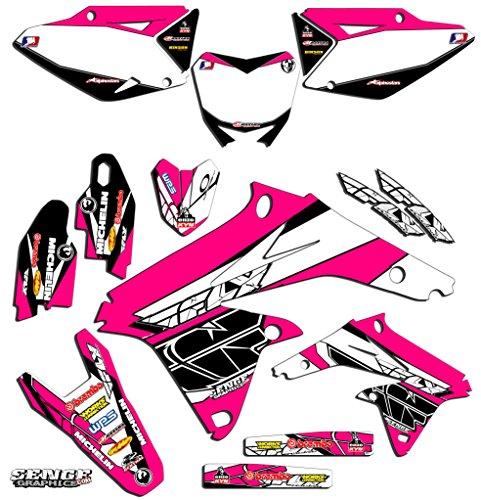 Senge Graphics 2005-2006 Suzuki RMZ 450 Fly Pink Graphics Kit