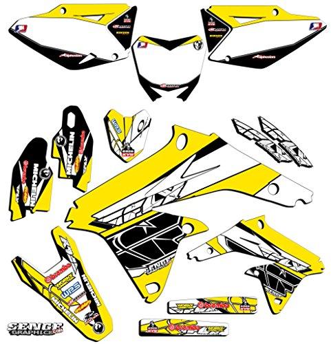 Senge Graphics 2005-2006 Suzuki RMZ 450 Fly Yellow Graphics Kit