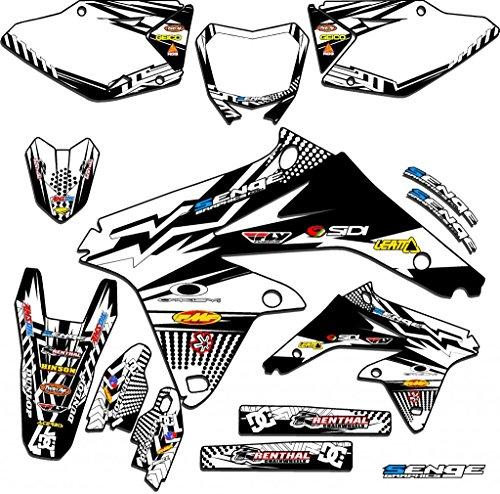 Senge Graphics 2005-2006 Suzuki RMZ 450 Mayhem White Graphics Kit