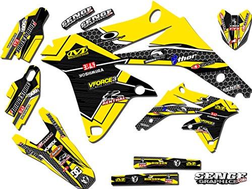 Senge Graphics 2005-2006 Suzuki RMZ 450 Podium Yellow Graphics Kit