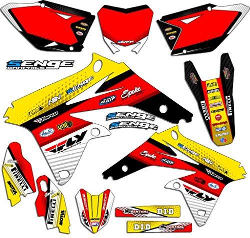 Senge Graphics 2005-2006 Suzuki RMZ 450 Ricochet Yellow Graphics Kit