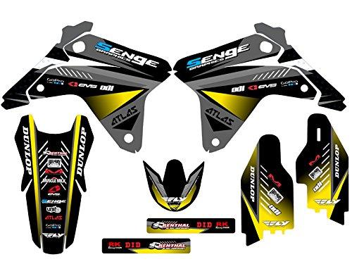 Senge Graphics 2005-2006 Suzuki RMZ 450 Surge Black Graphics Kit