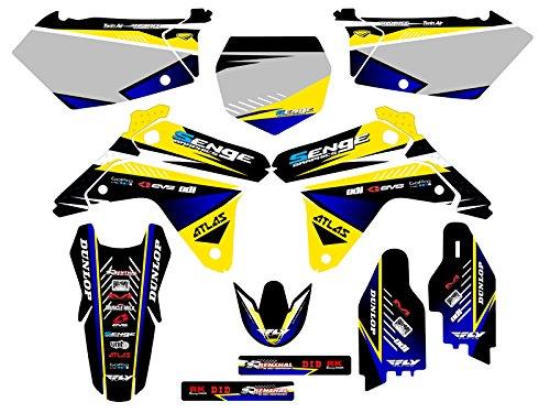 Senge Graphics 2005-2006 Suzuki RMZ 450 Surge Yellow Graphics Kit